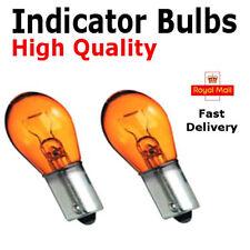 2x BA15s 382 P21W 1156 Indicator Light Bulbs 12v Opposite Pins - Amber/Orange