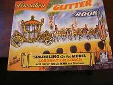 Vintage Coronation Glitter Model Book. Sparkling Cut Out Model. First Edition.