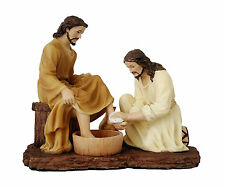8 Inch Jesus Washing Disciples Feet Christ Statue Figurine Religious Decor