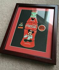 Disney Coca Cola 75 InspEARations Bottle Puzzle LE Framed Pin Set