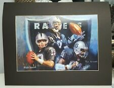 Haiyan matted art print 16 x 20 Raiders Jerry Rice Rich Ganon Tim Brown