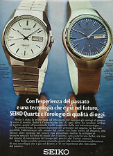 (AM) EPOCA973-PUBBLICITA'/ADVERTISING-1973- SEIKO CA 013 e BQ 003