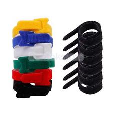 100 x Hook Cable Ties Cable Organizers Wire Wrap Straps+ 6 Rope Loop Fastener