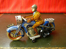 Very Rare 1930's Pre-war Arnold CKAO A643 Tin Wind-up Motorcycle Bike w/ Sparks
