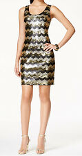 GUESS New Sequined Chevron-Print Tank Dress Size 4 MSRP $158 #BN 1440