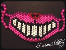 Cheshire Cat Mask PINK EDM Kandi mask Rave Alice in Wonderland raver costume