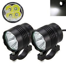 2Pcs 40W Motorrad 4x XML T6 LED Licht Zusatzscheinwerfer Fernlicht Scheinwerfer