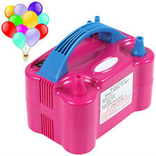 Portable High Power Two Dual Nozzles Air Blower Electric Balloon Inflator Pump T