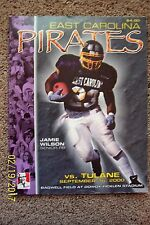 East Carolina University Football Program - 9.16.00 vs. Tulane