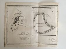 Original 1799 Chart of Gambier's Islands, Thomas Foot Capt J Wilson, Ship Duff