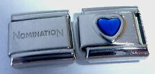 DARK BLUE HEART 9mm Italian Charm + 1x Genuine Nomination Classic Link LOVE E509