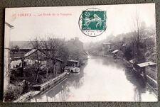 CPA. LISIEUX. 14 - Les Bords de la TOUQUES. 1909. Bateau.