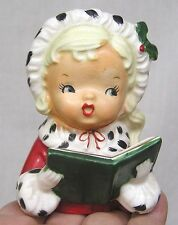 Vintage NAPCO Christmas Lady Head Vase CX2709B Dated 1957