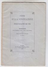 W446-VINO-VINIFICAZIONE-MEMORIE DI S.RUSSO 1876