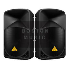 "Pair of Behringer B112d Active Powered PA 12"" Loud Speakers 2000-Watt Max Total"