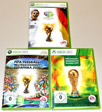 3 XBOX 360 FIFA WELTMEISTERSCHAFT 2006 2010 2014 DEUTSCHLAND BRASILIEN SÜDAFRIKA