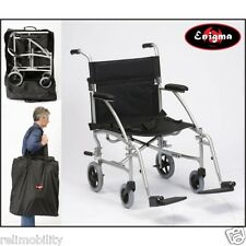 Enigma Ultra Lightweight Folding Travel Wheelchair In A Bag Weighing Only 8kg