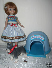 BETSY McCALL Dress w/ canine PET Schnauzer Dog & Doghouse 8 inch DOLL CLOTHES