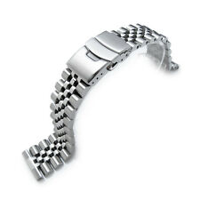 22mm Super Jubilee 316L Stainless Steel Watch Band, Solid Straight End
