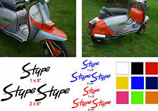 Lambretta Stickers S Type AF Sticker RB TS1 GP SX TV LI 3 x Stickers Red
