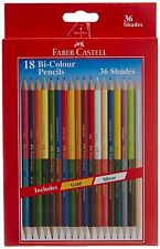 Faber Castell Color Pencil Set 36 Shades 18 Pencil with Silver & Gold Hexagonal