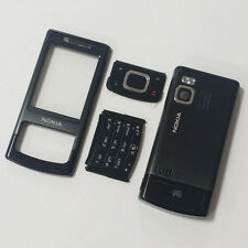 Genuine Full Housing Front Back and Keys Fits Nokia 6500 Slide 6500s - Black