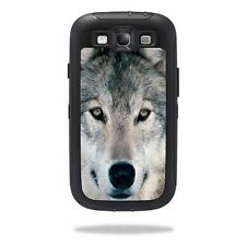 Skin Decal Wrap for OtterBox Defender Samsung Galaxy S III S3 Case Wolf
