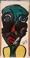 "ORIGINAL SIGNED PETER KEIL VINTAGE PAINTING 1985 ""MICHAEL JACKSON"" 24X48"