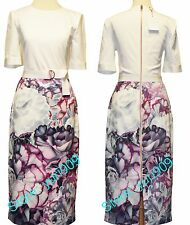 Ted Baker London MID PURPLE STEPHIE Illuminated Bloom Dress Size 5 (US 12) $295