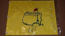 UNDATED Vijay Singh signed auto Masters Golf Pin Flag British US Open PGA