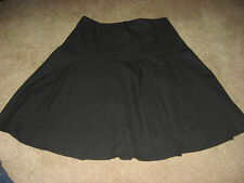 Womens Black THE LIMITED Lined Stretch Below Knee Skirt 4