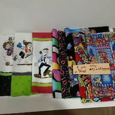 8 pcs of 100% Cotton Novelty Fabric Samples from Hoffman Fabrics