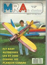 MRA N°597 CESSNA 182 / SUPER TIGRE 2000 / FLY-BABY / STERNE PLANEUR CANARD