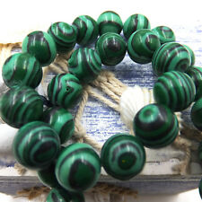 6mm 15pcs malachite Natural Gemstone Round Spacer Loose Beads Scattered
