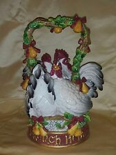 """FITZ & FLOYD 12 DAYS OF CHRISTMAS THREE FRENCH HENS TEAPOT """"NEW"""""""