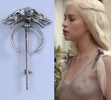 Game Of Thrones Song of Ice Fire Daenerys Targaryen Dragon Brooch Cosplay Pin