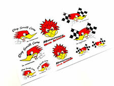 CLAY SMITH CAMS MR HORSEPOWER DECAL STICKER SHEET SET RAT STREET ROD WOODPECKER