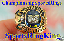 1989 MICHIGAN WOLVERINES RUMEAL ROBINSON NATIONAL CHAMPIONSHIP 10K RING w/BOX