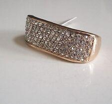 Mens gold finish hip hop fully stone designer  bling 2 finger ring size 10 & 11