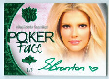 "STEPHANIE BRANTON ""GREEN POKER FACE AUTOGRAPH #1/3"" BENCHWARMER SIN CITY 2015"
