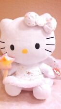 "2012 Ty Hello Kitty Angel Fairy Plush Holding Wand 11"" Tall By Sanrio NWT"