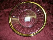 MIKASA CAMBRIA GOLD RIMMED GLASS SERVING PLATE JAPAN