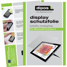 3x Microsoft Surface 3 (10,8 Zoll) Schutzfolie matt Displayschutzfolie Folie