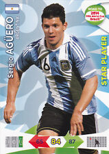 Road To 2014 FIFA World Cup - SERGIO AGUERO - Argentina - Star Player - Panini