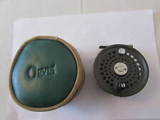 V good orvis battenkill disc england 8/9 trout fly fishing reel + case