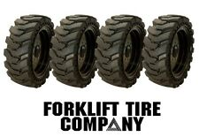 12x16.5 NEW  TOP QUALITY SKID STEER SOLID TIRES AND WHEELS (4) 33X12X20