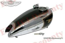 BLACK PAINT CHROME PLATED BSA C11 C10 PETROL FUEL TANK + SPEEDO + CAP + TAP @AUD