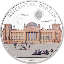 Palau 2017 $5 World of Wonders Reichstag Berlin 20 g Silver Coin