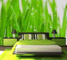 Carta da parati murale per camera da letto & soggiorno Estate verde prato