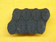 INDIAN WOODEN HAND CARVED TEXTILE PRINTING FABRIC BLOCK STAMP POTTERY STAMP WOOD